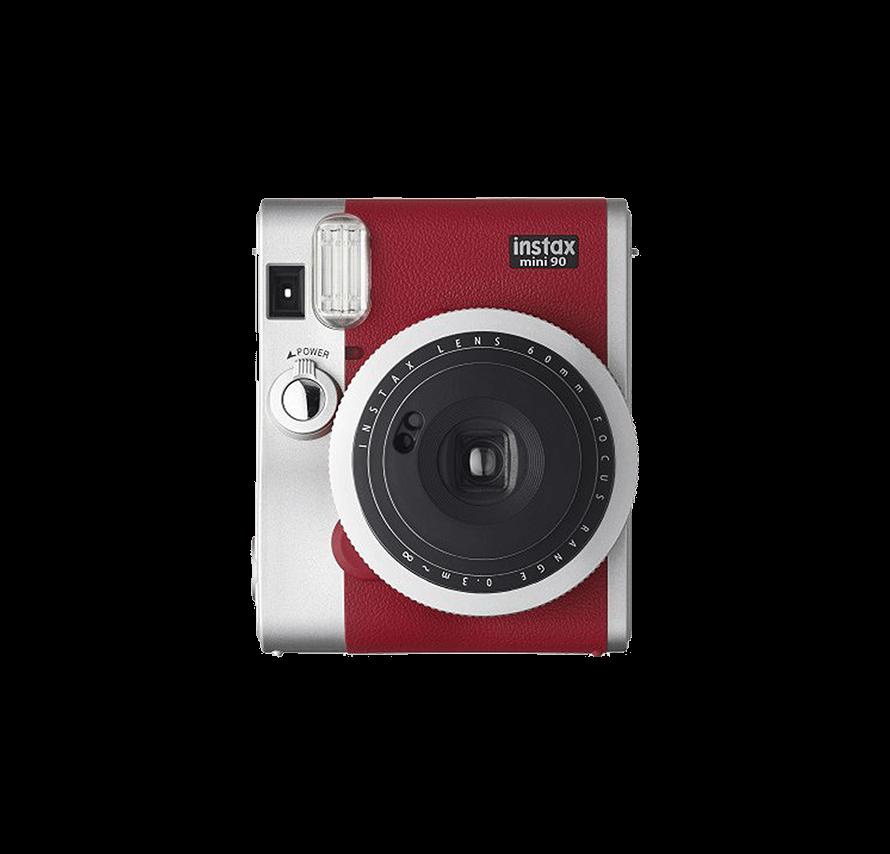 instax mini90 ネオクラシック フィルム20枚付き レッド チェキレンタル