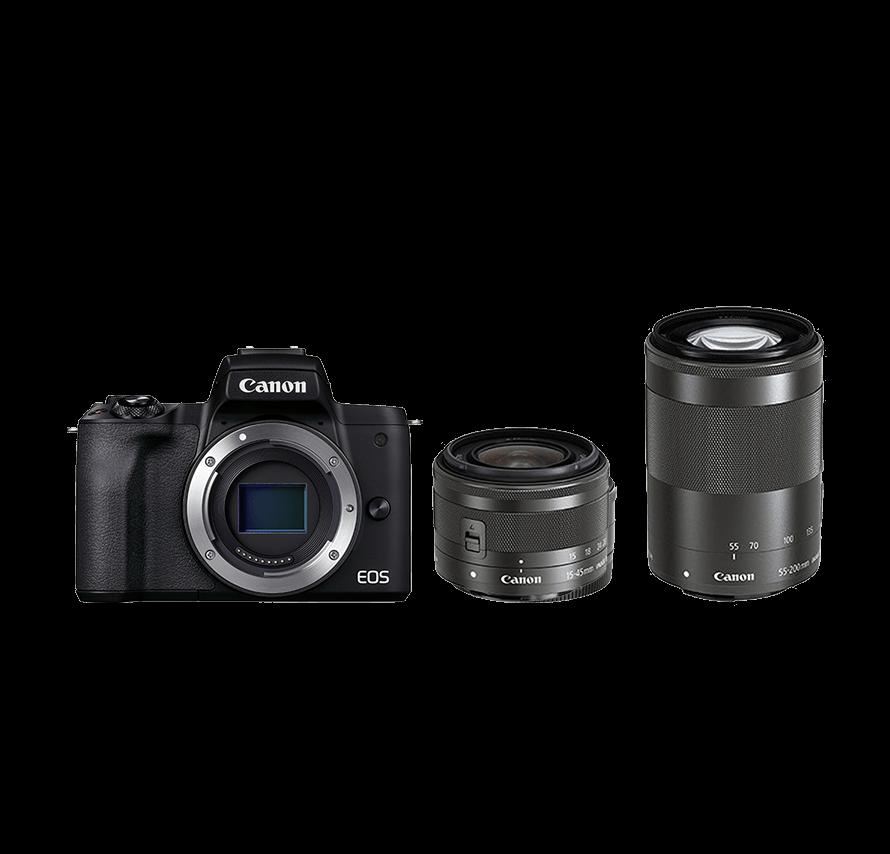 Canon EOS kissM2 ダブルレンズキット ミラーレス一眼レフカメラレンタル