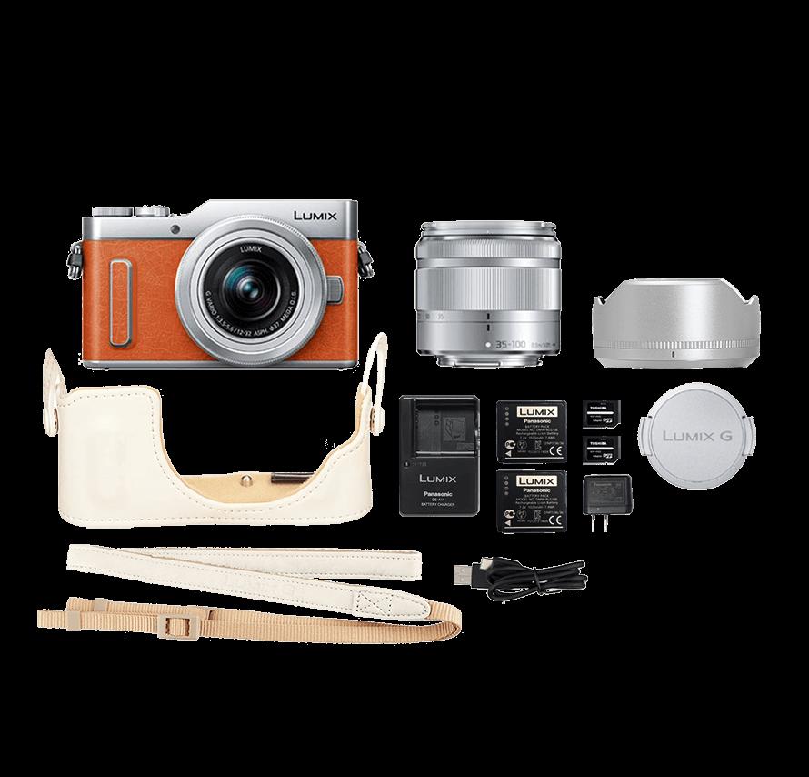 Panasonic LUMIX DC-GF10 標準&望遠レンズセット オレンジ ミラーレス一眼カメラレンタル