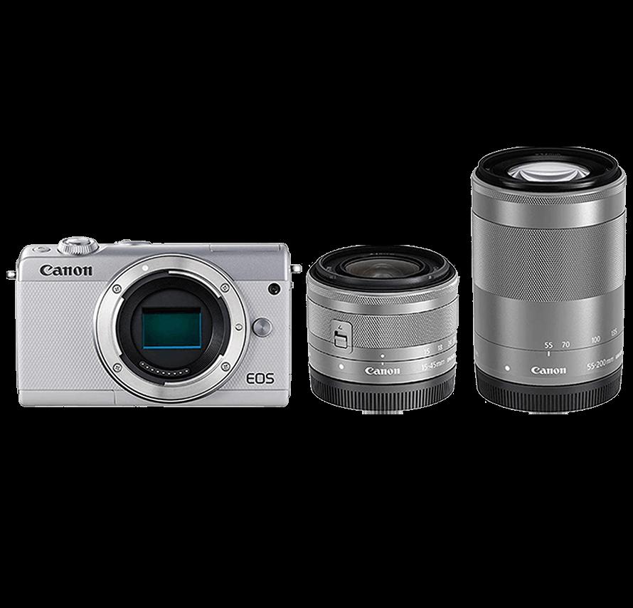 Canon EOS M200 標準&望遠レンズセット/ホワイト | ミラーレス一眼カメラレンタル