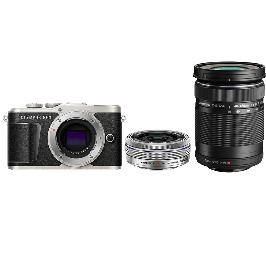 OLYMPUS PEN E-PL9 標準&望遠レンズセット ブラック ミラーレス一眼カメラレンタル
