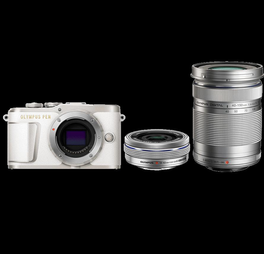 OLYMPUS PEN E-PL9 標準&望遠レンズセット ホワイト ミラーレス一眼カメラレンタル