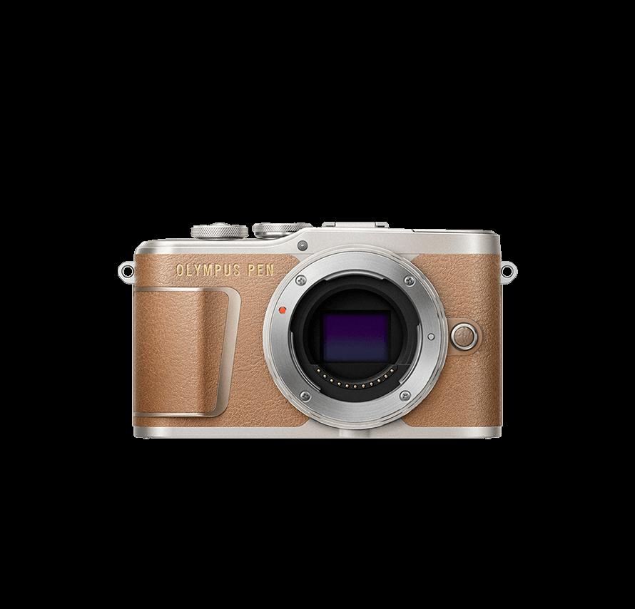 OLYMPUS PEN E-PL9 標準&望遠レンズセット ブラウン カメラレンタル