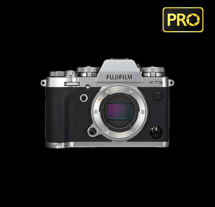 FUJIFILM X-T3 ボディ / シルバー|ミラーレス一眼レフカメラレンタル