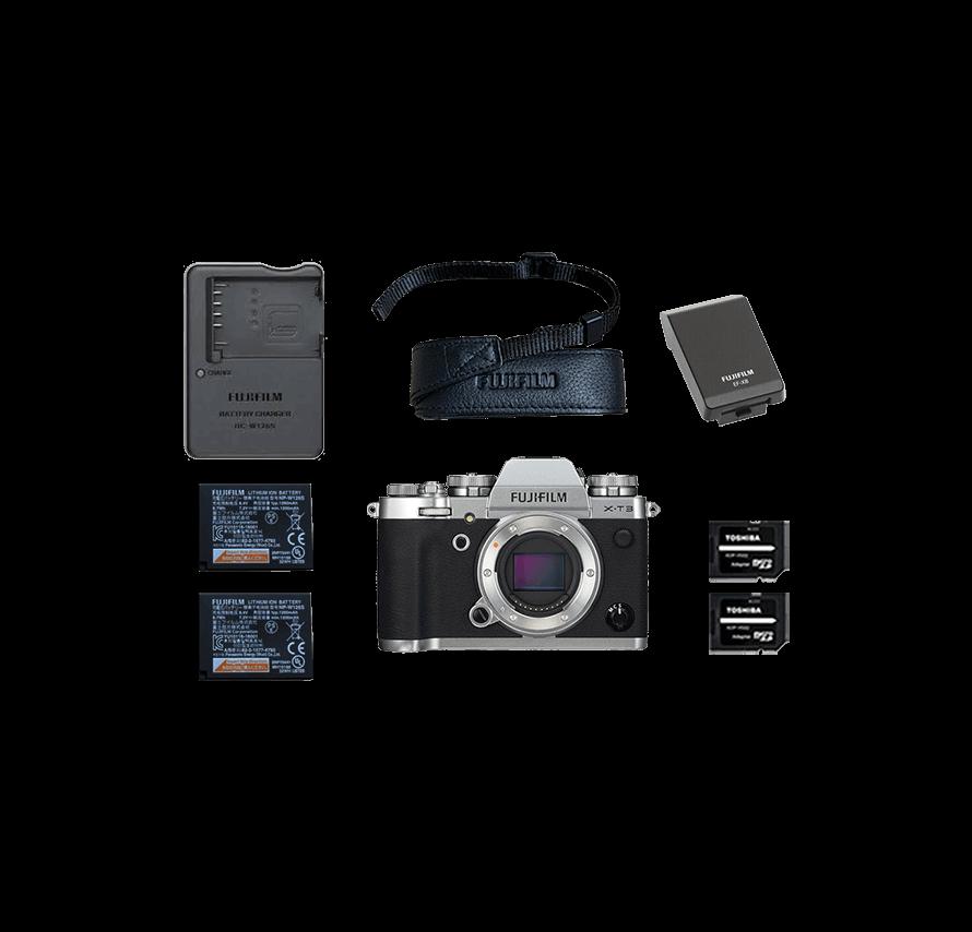 FUJIFILM X-T3 ボディ / シルバー ミラーレス一眼レフカメラレンタル
